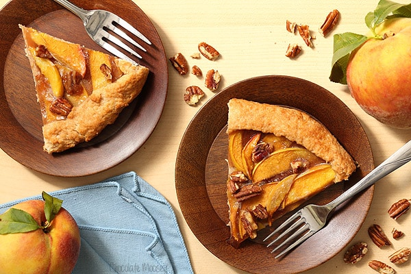 Peach Galette with homemade pie crust