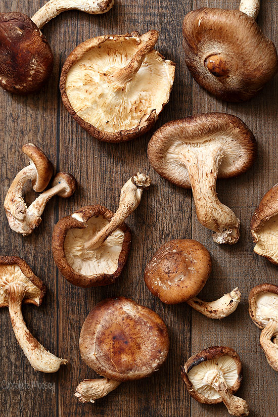 Shiitake Mushrooms for pasta