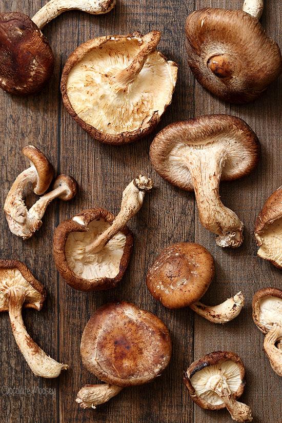 Shiitake Mushrooms for pasta