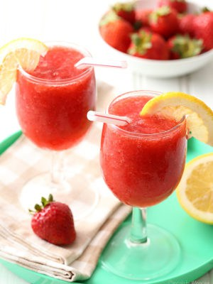 Strawberry Wine Spritzer Slushies