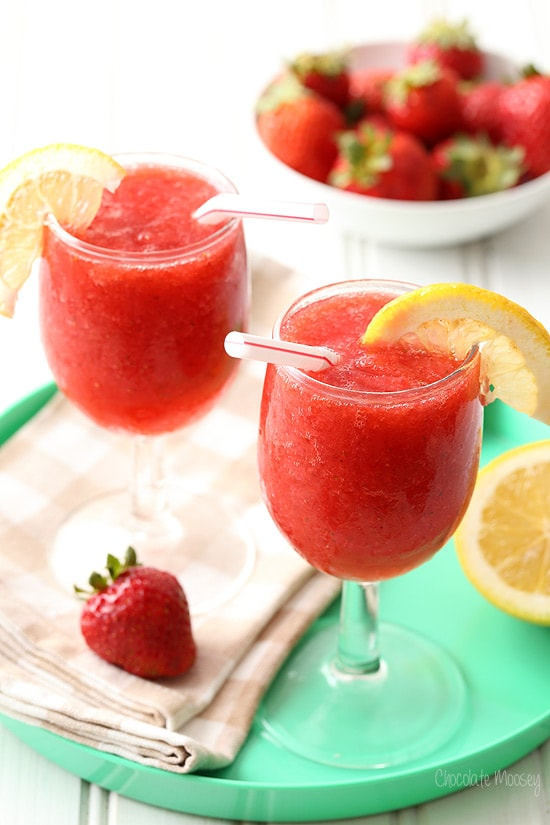Strawberry Wine Spritzer Slush