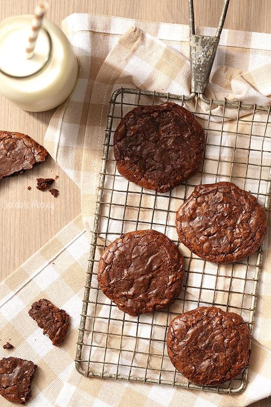 Fudgy Brownie Cookies with a secret ingredient