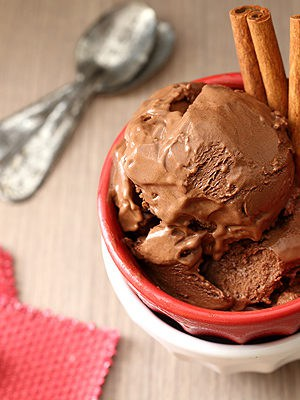 Mexican Chocolate Ice Cream with cinnamon and a hint of chili powder