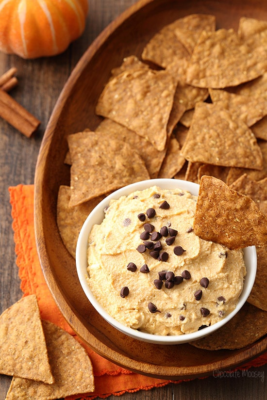 Pumpkin Spice Cannoli Dip for fall parties