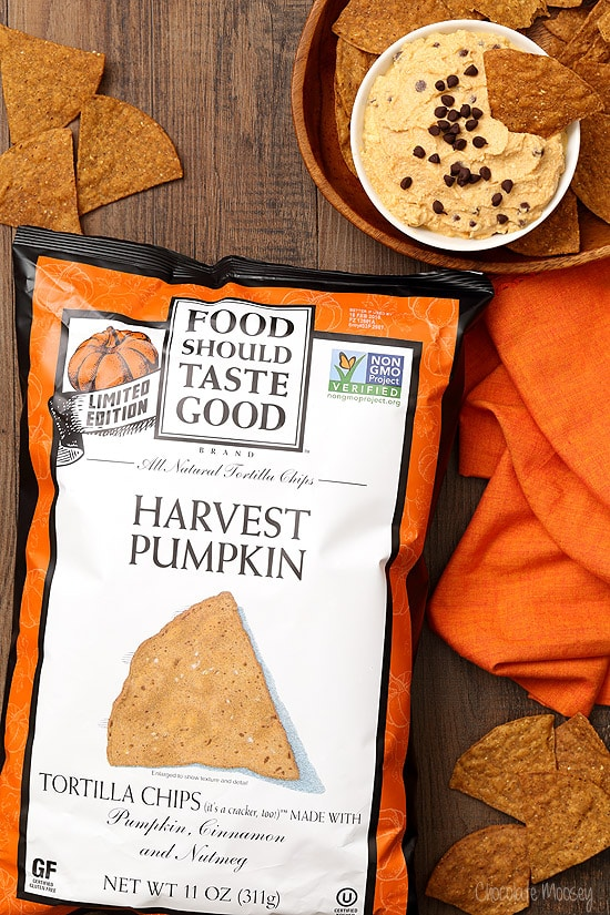 Harvest Pumpkin Chips served with Pumpkin Spice Cannoli Dip
