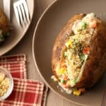 Chicken Pot Pie Baked Potatoes