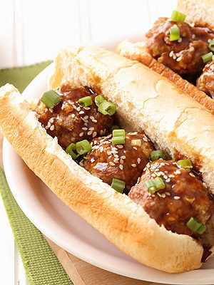 Pork Teriyaki Meatball Sub
