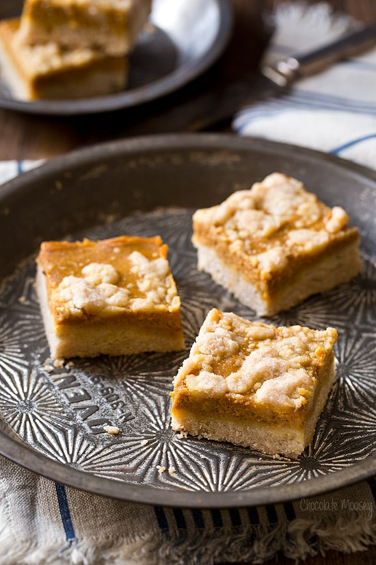 easy Pumpkin Pie Crumb Bars for Thanksgiving