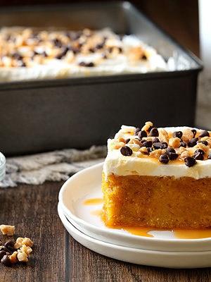 Pumpkin Spice Poke Cake