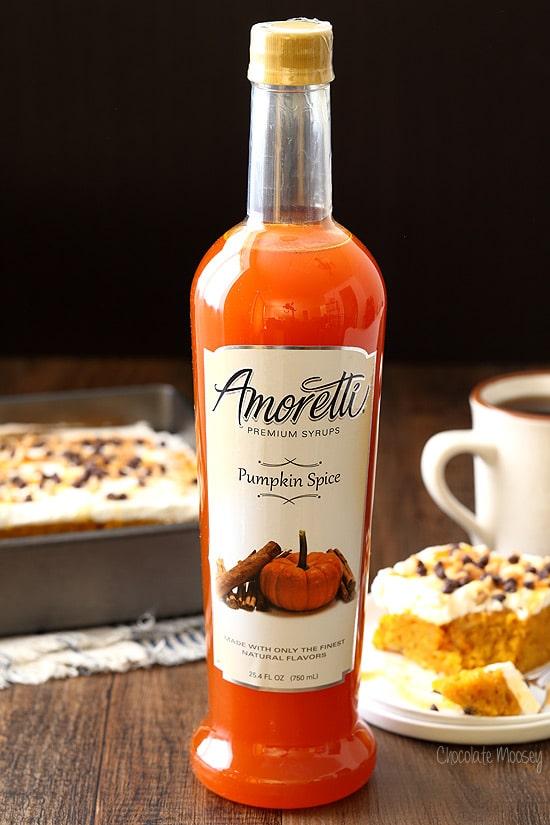 Pumpkin Spice Syrup for pumpkin poke cake