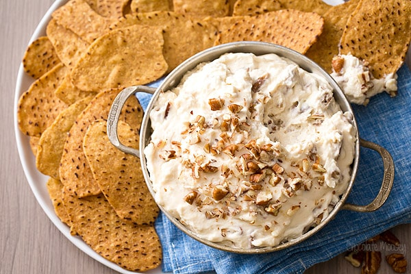 No Bake Maple Pecan Cheesecake Dip