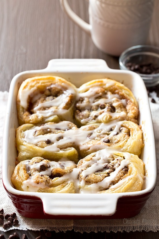 Puff Pastry Cookie Dough Cinnamon Rolls