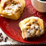 Puff Pastry Cookie Dough Cinnamon Rolls