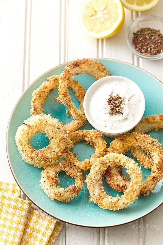 Za'atar Baked Onion Rings