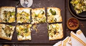 Brussels Sprouts and Ricotta Flatbread