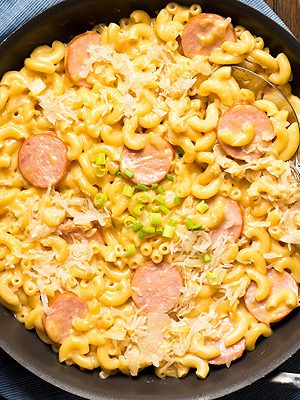 Kielbasa and Beer Mac and Cheese