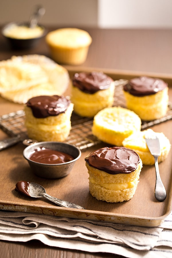 Small Batch Boston Cream Pie Cupcakes