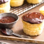 Small Batch Boston Cream Pie Cupcakes
