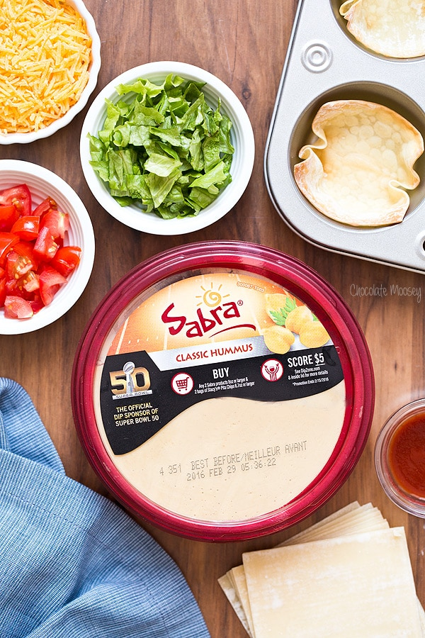 Sabra Hummus for Buffalo Chicken Hummus Taco Cups