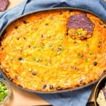 Chicken Enchilada Dip made with homemade enchilada sauce