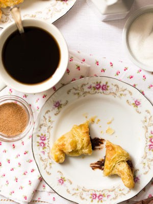 Small Batch Puff Pastry Chocolate Croissants