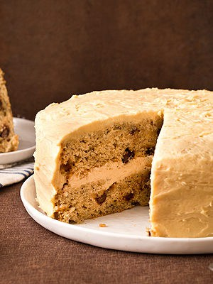 Banana Layer Cake with Peanut Butter Cream Cheese Frosting