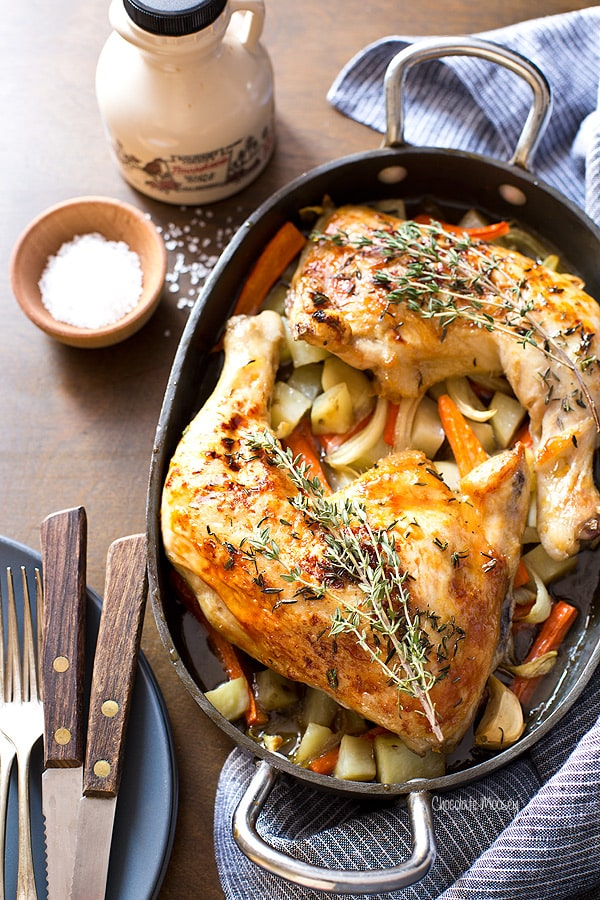 Maple Roasted Chicken Quarters Dinner For Two Homemade In The