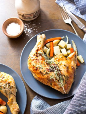 Maple Roasted Chicken Quarters (Dinner For Two)