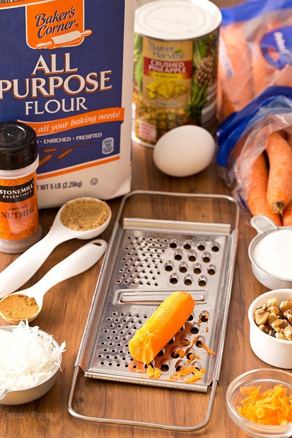 Making Carrot Cake Skillet Cake