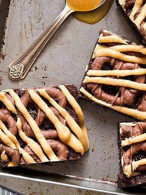 Chocolate Covered Pretzel Caramel Brownies
