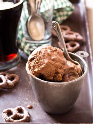 Chocolate Stout Pretzel Ice Cream