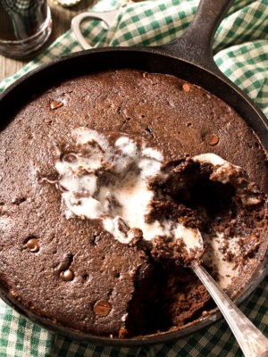 Chocolate Stout Skillet Cake