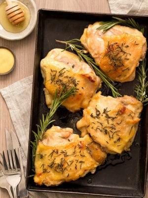 Honey Mustard Chicken Thighs (Dinner For Two)
