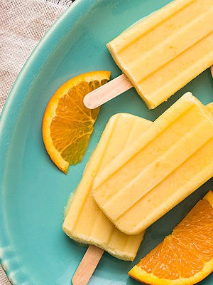 Small batch Orange Creamsicle Yogurt Pops