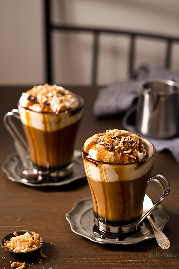 hot Toasted Coconut Mocha