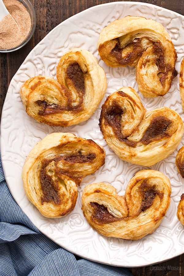 Apple Butter Palmiers made with 4 ingredients