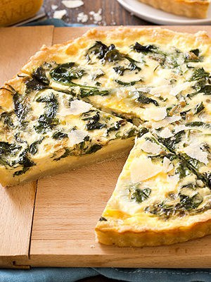 Spinach Parmesan Quiche