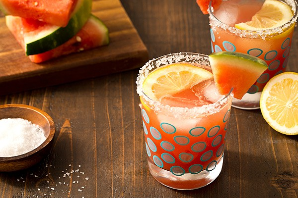 Watermelon Lemonade Margaritas