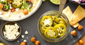Quick Pickled Jalapenos and Taco Hummus Bar