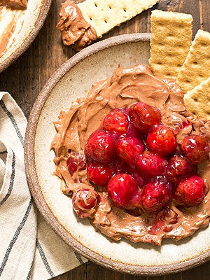 Chocolate Cherry Cheesecake Dip (Small Batch)