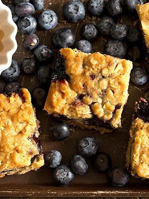 Honey Blueberry Oatmeal Bars