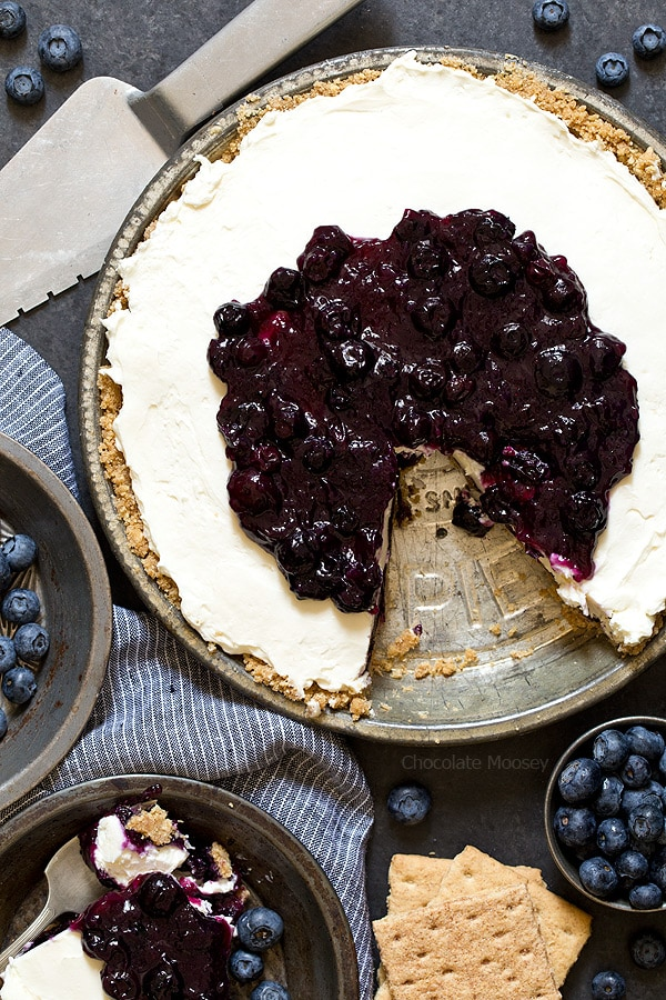 Use up your fresh blueberries in this No Bake Blueberry Cheesecake Pie ...