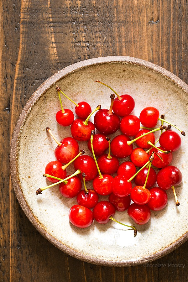 Bowl of Sour Cherries for Chocolate Cherry Cheesecake Dip