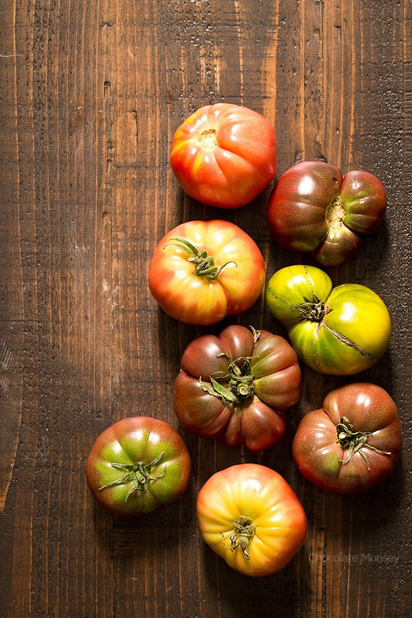 Heirloom tomatoes for tomato soup