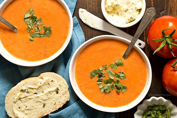You'll never reach for canned soup again once you try this creamy Homemade Tomato Soup for two. Pair it with a melty grilled cheese sandwich for a fulfilling lunch or dinner.