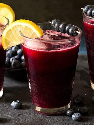 Sparkling Blueberry Lemonade