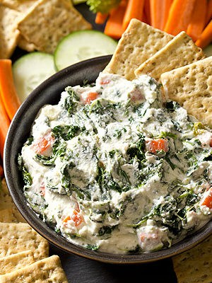 No more boring veggies and dip with cold and creamy Spinach Ranch Dip that replaces mayonnaise with a protein-packed secret ingredient