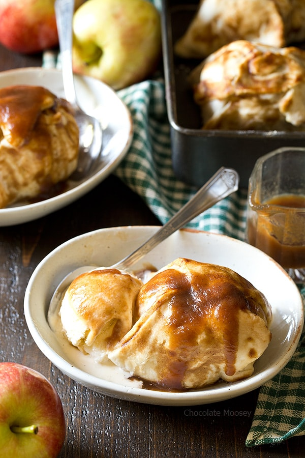 Welcome fall into your kitchen with Apple Butter Dumplings - a classic American dessert stuffed with apple butter, raisins, and walnuts
