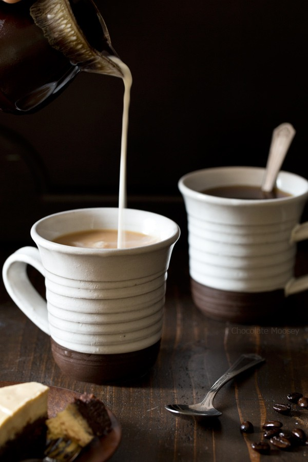 Coffee for Mocha Brownie Cheesecake
