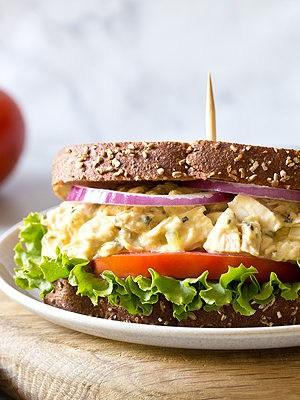 Garlic Hummus Chicken Salad Sandwiches